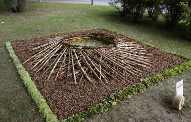 """Anykščių miesto šventė (2019) - Pasaulio anykštėnų IX suvažiavimas """"Čia žmonės kuria"""" - Floristinis kilimas"""