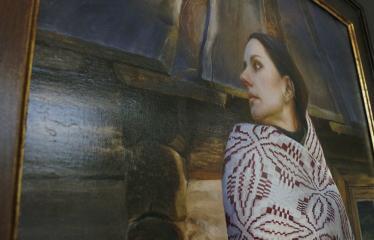 """Donato Inio tapybos darbų """"Kas jūs esate - mes buvome, kas jūs būsite - mes esame"""" parodos atidarymas - Paveikslo fragmentas"""