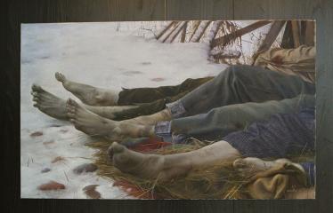 """Donato Inio tapybos darbų """"Kas jūs esate - mes buvome, kas jūs būsite - mes esame"""" parodos atidarymas - Paveikslas"""