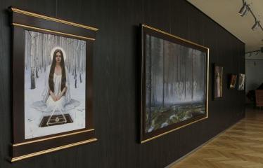 """Donato Inio tapybos darbų """"Kas jūs esate - mes buvome, kas jūs būsite - mes esame"""" parodos atidarymas - Paroda"""