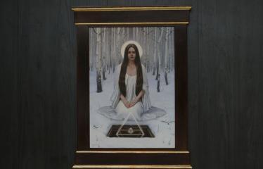 """Donato Inio tapybos darbų """"Kas jūs esate - mes buvome, kas jūs būsite - mes esame"""" parodos atidarymas - Tapybos kūrinys"""