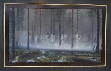 """Donato Inio tapybos darbų """"Kas jūs esate - mes buvome, kas jūs būsite - mes esame"""" parodos atidarymas - Meno kūrinys"""