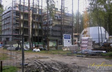 """Fotokonkursas """"Anykščiai ir apylinkės"""" (2013) - SPA centro statyba"""