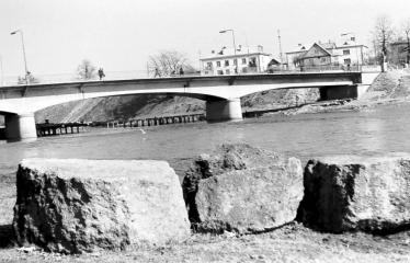 """Fotokonkursas """"Anykščiai ir apylinkės"""" (1973) - Tiltas per Šventąją Anykščiuose"""