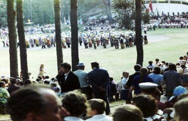 """Fotokonkursas """"Anykščiai ir apylinkės"""" (1975) - Vasaros šventė - Dainuvos slenis"""