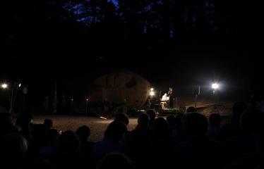 """Atminties valanda prie Puntuko akmens """"Vieno kelio tiesa"""" - Renginio akimirka"""