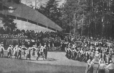 """Fotokonkursas """"Anykščiai ir apylinkės"""" (1977) - Dainų ir šokių šventė Dainuvos slėnyje"""