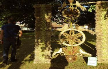 """2017 07 21 - Anykščių miesto šventė (2017) - """"ŠvenČIA ANYKŠČIAI"""" - Floristinių kilimų pynimas ir paroda"""