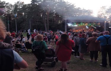 """Anykščių miesto šventė (2017) - """"ŠvenČIA ANYKŠČIAI"""" - Vakaro koncertas - """"Laiptai"""", """"Pelenai"""", """"BIX"""", DJ Monsta - Koncerto akimirka"""
