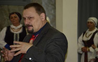 Anykščių krašto tautodailės parodos atidarymas - Sigutis Obelevičius