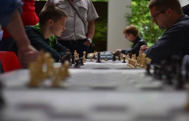Valstybės (Lietuvos karaliaus Mindaugo karūnavimo) diena (2017) - Šachmatų dvikova Anykščiai - Ukmergė - Turnyro akimirka